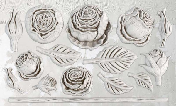 """Decor Form """"Heirloom Roses"""" - Iron Orchid Designs (IOD)"""