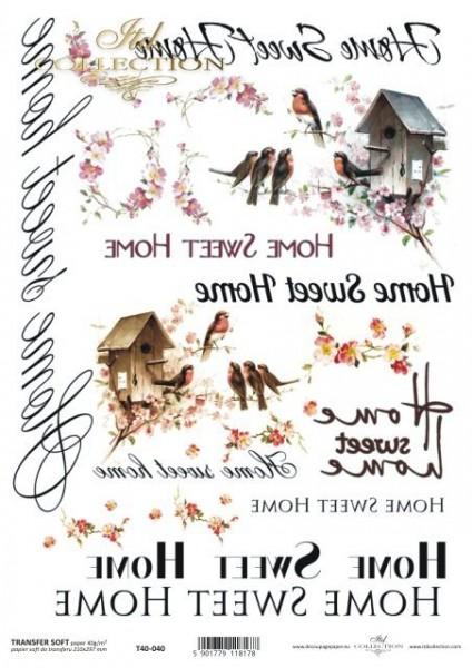 Transferpapier mit Spiegelschrift - Home Sweet Home