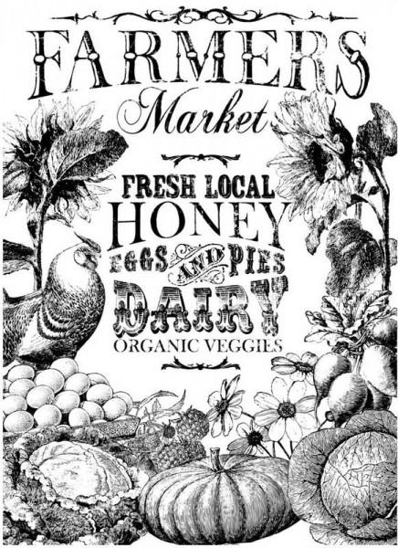 "Decor Transfer ""Farmers Market"" bemalbar- Iron Orchid Designs (IOD)"