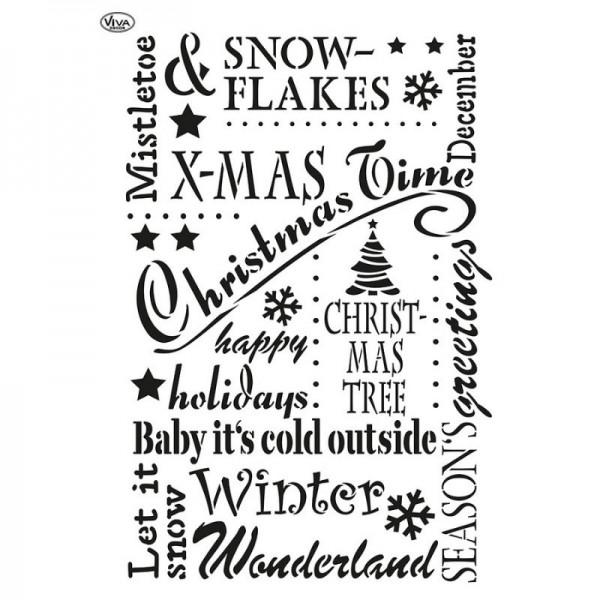 Schablone Christmas Time, A3 von Viva Decor
