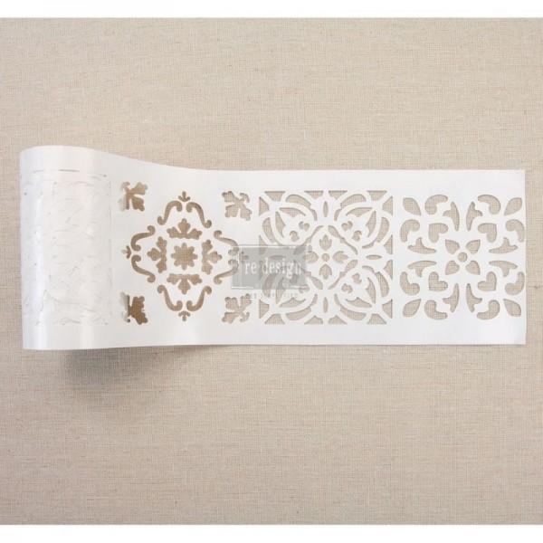 Stick & Style Schablone auf der Rolle Casa Blanca Tile von ReDesign
