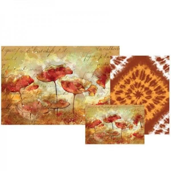 """Decoupage Papier Set """"Poppy Petals"""" von Grace on Design"""