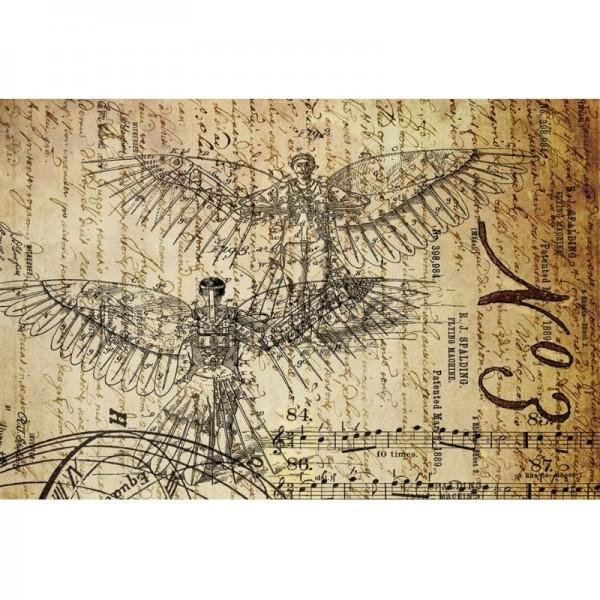"Decoupage Tissuepapier ""Dreams of Flight 1"" 50,8 x 76,2 cm von Roycycled Treasure"