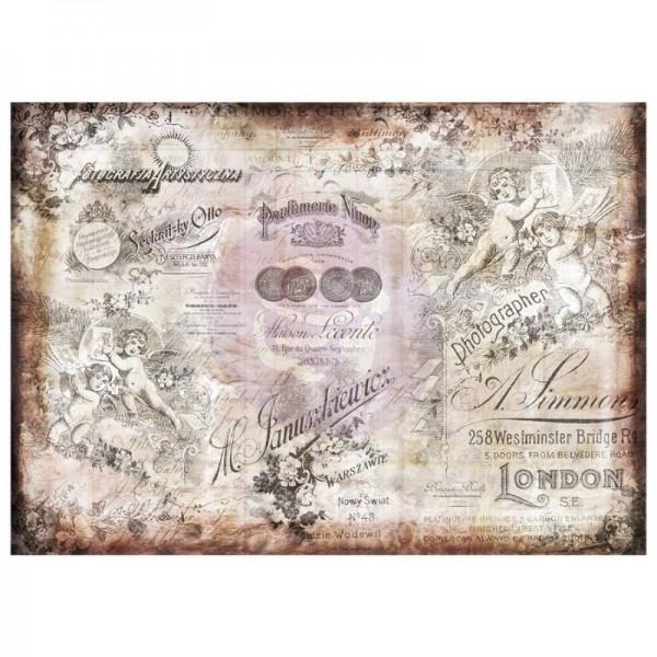 Decoupage Tissue Papier Romatica 70 x 50 cm - 6-teilig von ReDesign