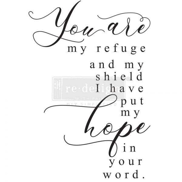 """Transfer """"My Refuge"""" 50,8 x 76,2 cm von Redesign"""