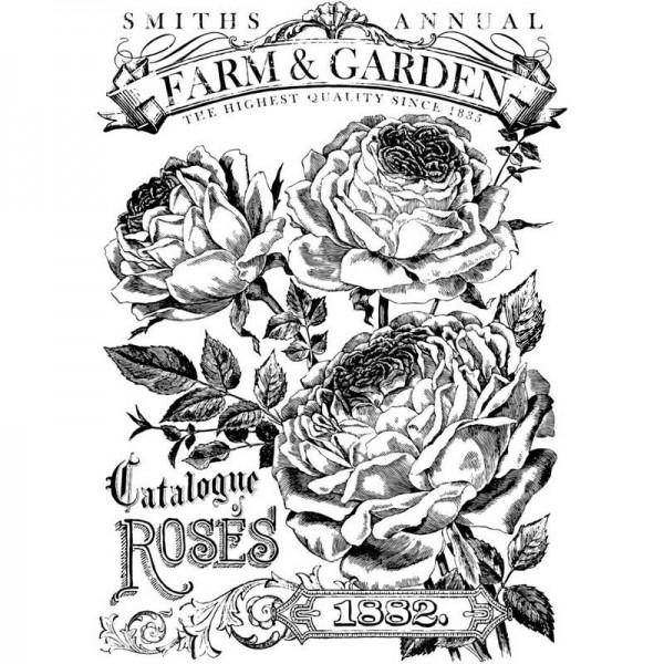 "Decor Transfer ""Catalogue of Roses"" bemalbar- Iron Orchid Designs (IOD)-"