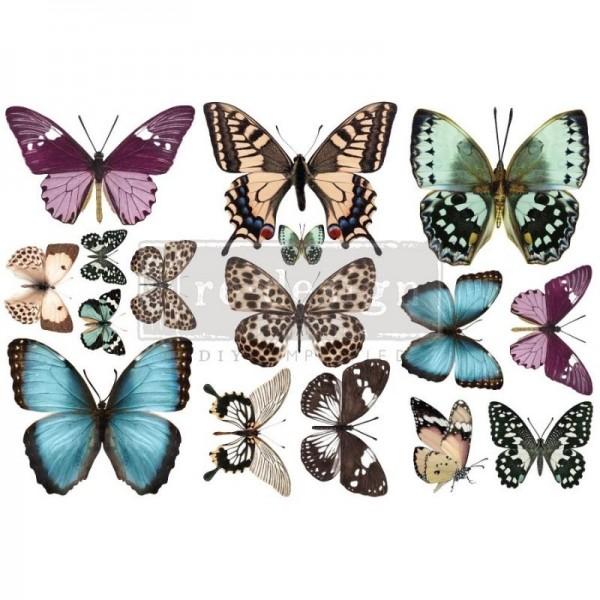 Transfers Butterfly - 3-teilig á 15,24 x 30,43 cm von ReDesign