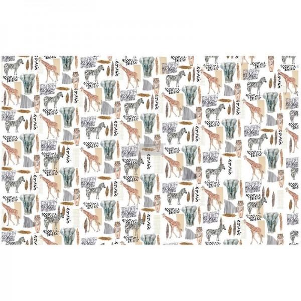 Decoupage Tissue Papier Safari 48,26 x 76,20 cm von ReDesign