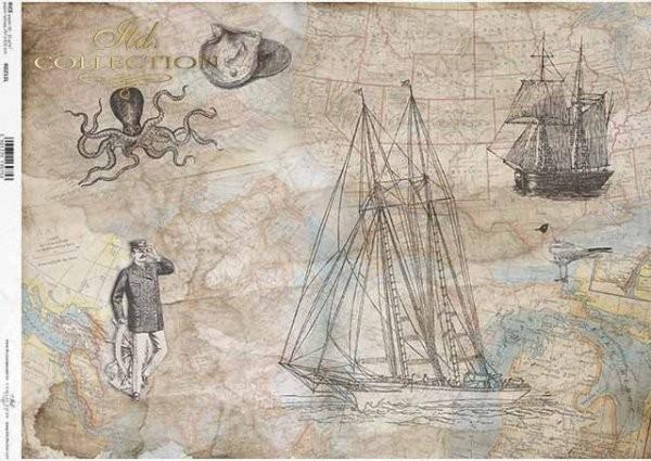Reispapier für Decoupage - Maritim - A3