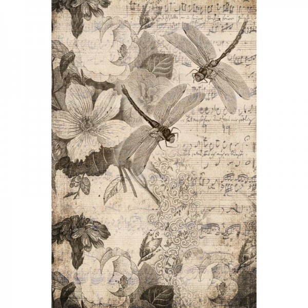 "Decoupage Tissuepapier ""Musical Dragonflies"" 50,8 x 76,2 cm von Roycycled Treasure"