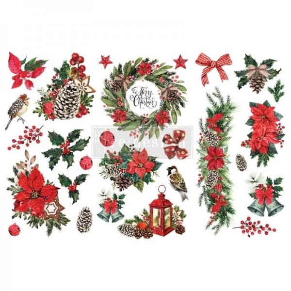 Transfers Classic Christmas, 3-tlg. á 15,24 x 30,43 cm von ReDesign