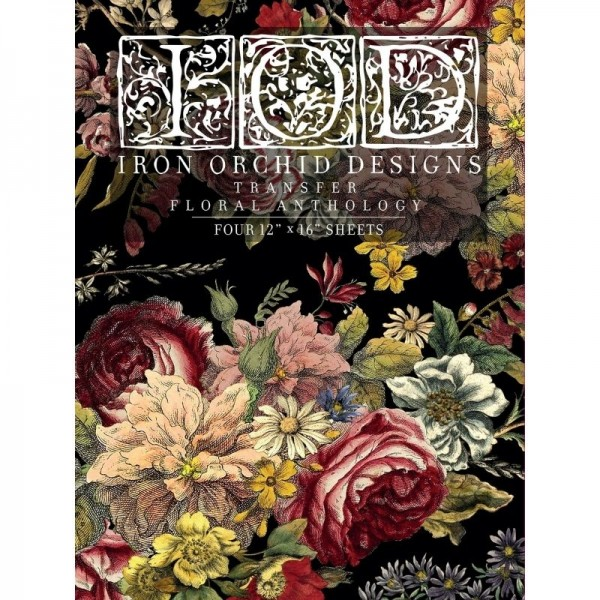 Transfer Floral Anthology Iron Orchid Designs