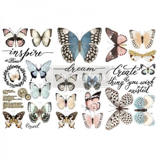"Transfers ""Papillon Collection"", 3-tlg. á 15,24 x 30,43 cm von ReDesign"