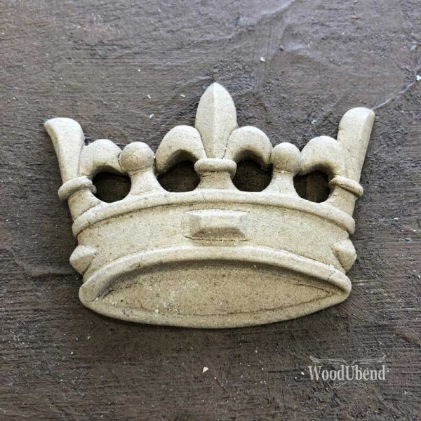 WoodUbend Krone II klein - Ornament 6 x 4 cm