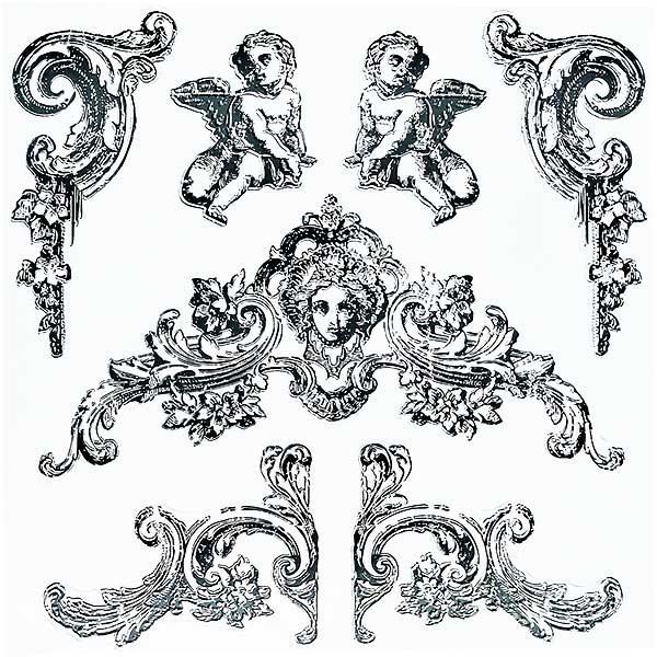 """Decor Stempel """"Trompe L'Oeil II"""" - Iron Orchid Designs (IOD)"""