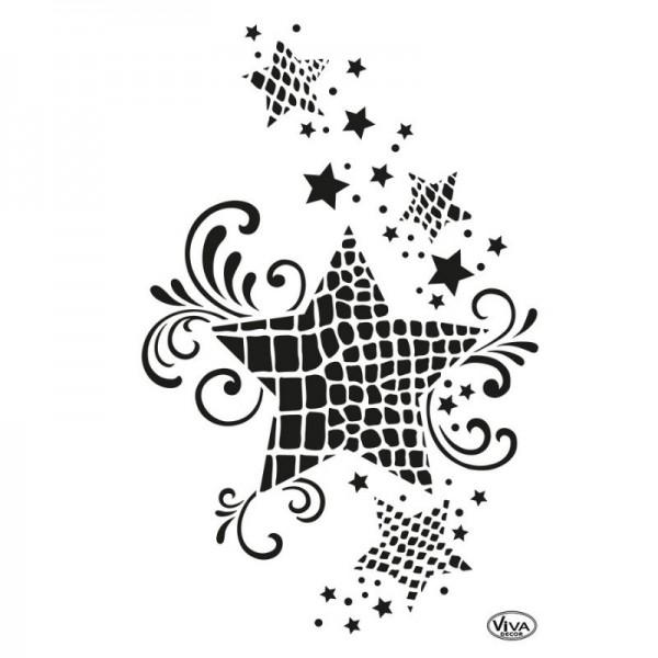Schablone Stern Animalprint, A4 von Viva Decor