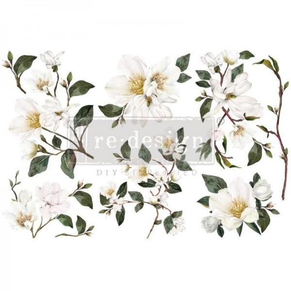 Transfers White Magnolia, 3-tlg. á 15,24 x 30,43 cm von ReDesign