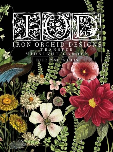 "Decor Transfer ""Midnight Garden""- Iron Orchid Designs"