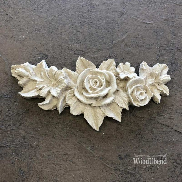 WoodUbend Flower Garland - Ornament 11,5 x 5,5 cm