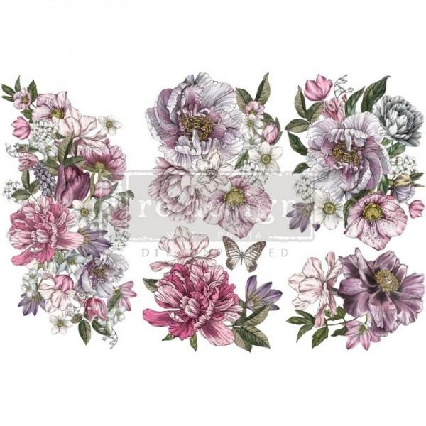 Transfers Dreamy Florals -3-teilig á 15,24 x 30,43 cm von ReDesign