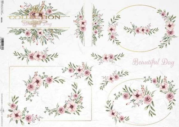 Reispapier für Decoupage - zauberhafter Frühling - A3