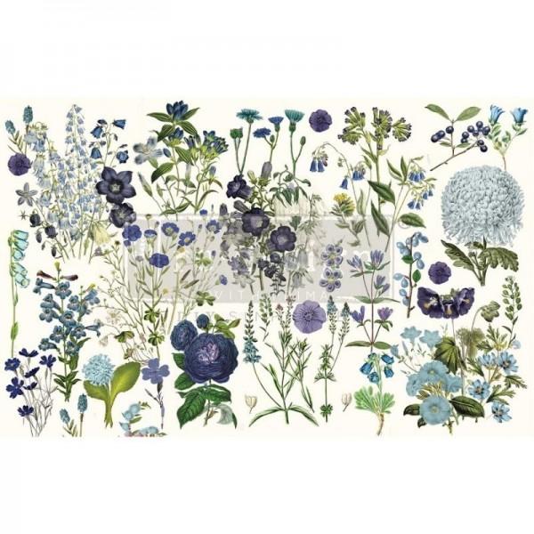 Decoupage Tissue Papier Blue Meadows 48,26 x 76,20 cm von ReDesign