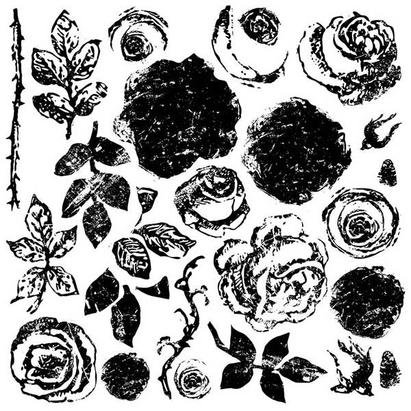 "Decor Stempel ""Painterly Roses"" - Iron Orchid Designs (IOD)"