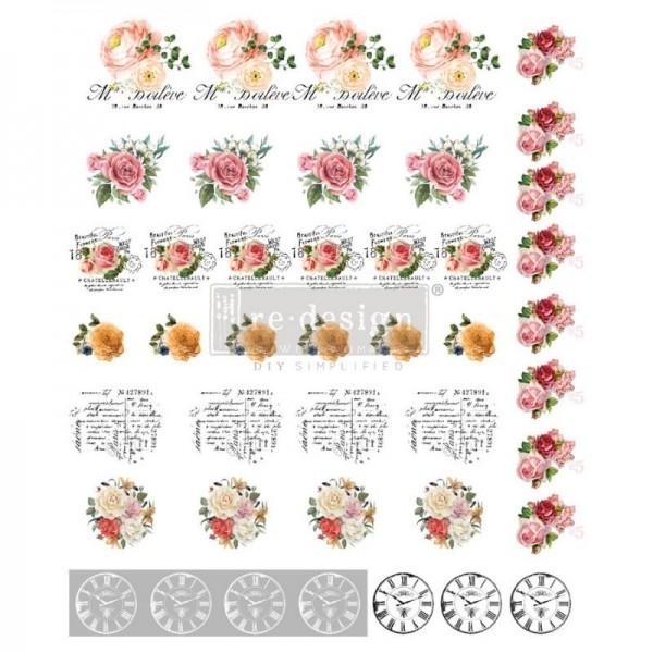"""Knob Transfers """"Vintage Rose"""" von Redesign"""