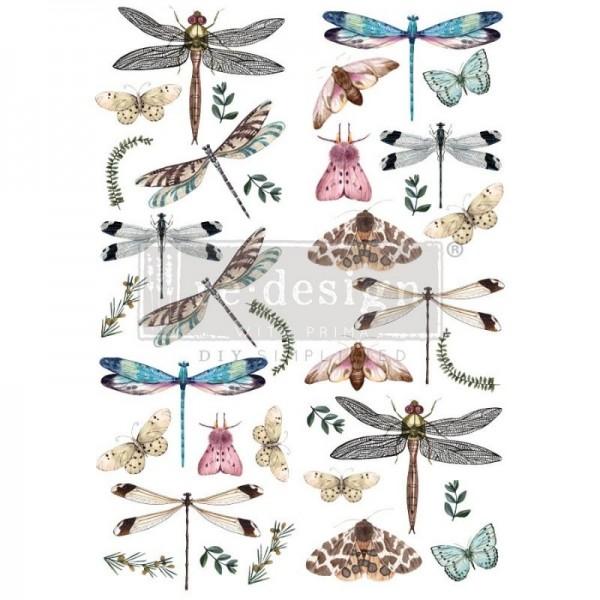 Transfer Riverbed Dragonflies - 2-teilig - 60,96 x 88,50 cm von ReDesign
