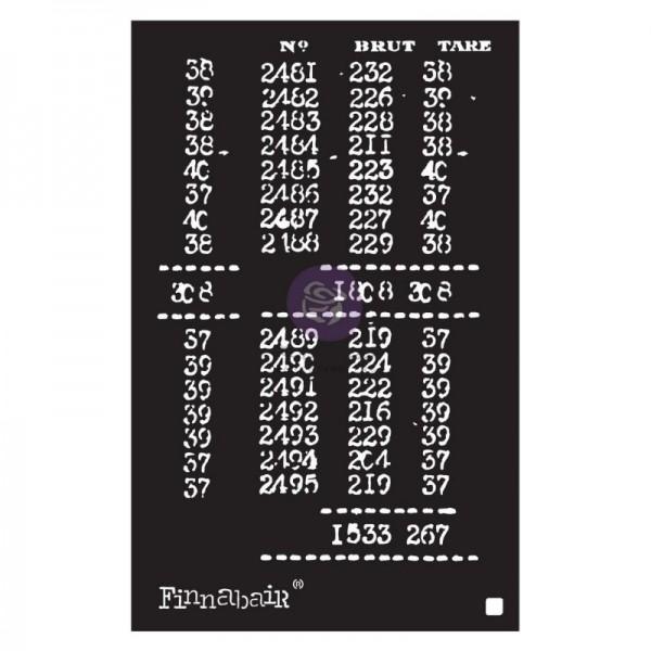 Decor Schablone Book of Numbers ca. 15 x 22 cm Motivgröße von Finnabair /ReDesign