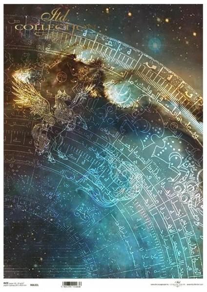 Reispapier für Decoupage - Sternbilder - A3