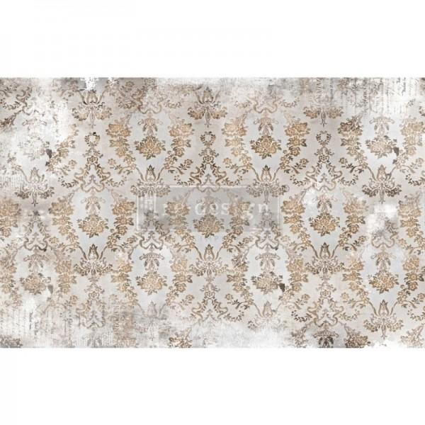 Decoupage Tissue Papier Washed Damask 48,26 x 76,20 cm von ReDesign