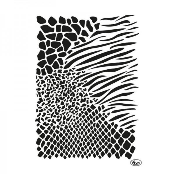 """Schablone """"Animalprint Allover"""" A3 von Viva Decor"""