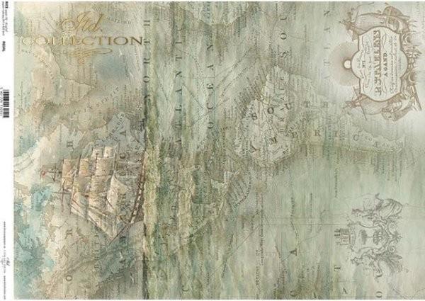 Reispapier für Decoupage - Segelschiff - A3