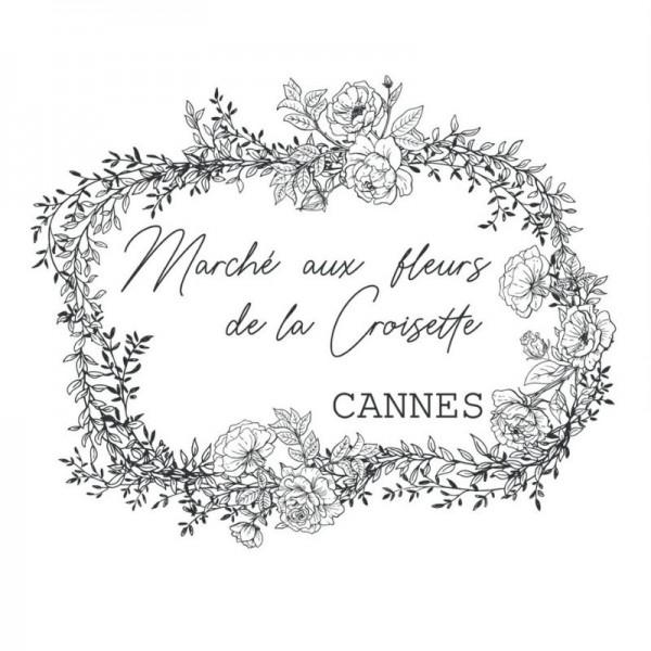 """Amatxi Transfer 006 """"Flower Market - Marché aux fleurs"""" 38 x 47 cm"""
