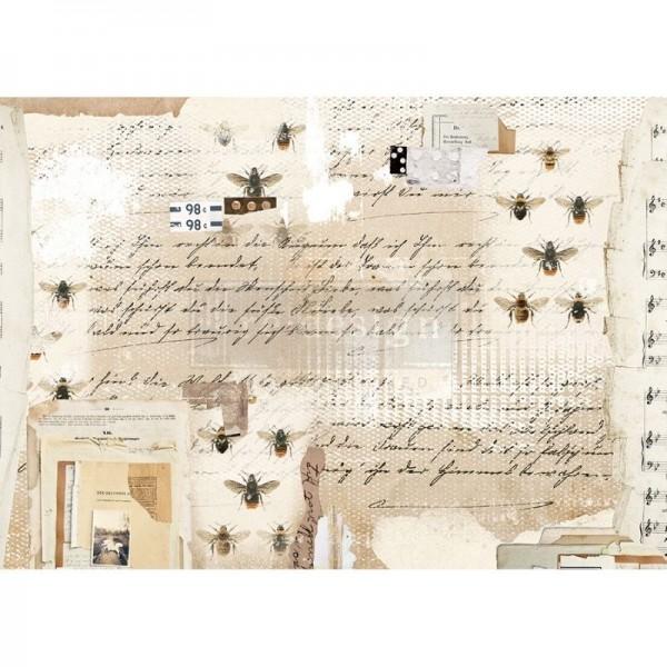 "Reispapier für Decoupage ""Mysterious Notes"" 29,21 x 41,27 cm"
