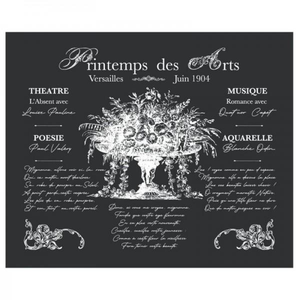 """Amatxi Transfer 018 """"Arts spring - Printemps de arts"""" 38 x 47 cm"""