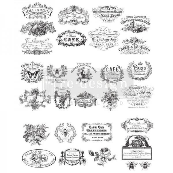 "Transfer ""Classic Vintage Labels "" 60,96 x 76,2 cm von ReDesign"