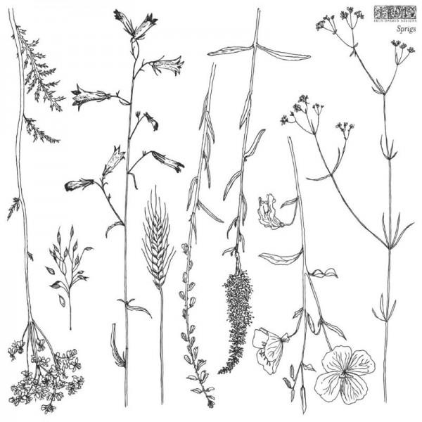 "Decor Stempel ""Sprigs"" - 1 Bogen - Iron Orchid Designs"