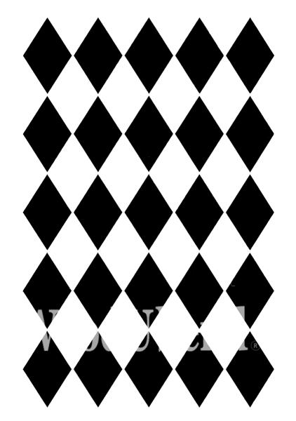"""Schablone """"Harlequin"""" von Posh Chalk"""