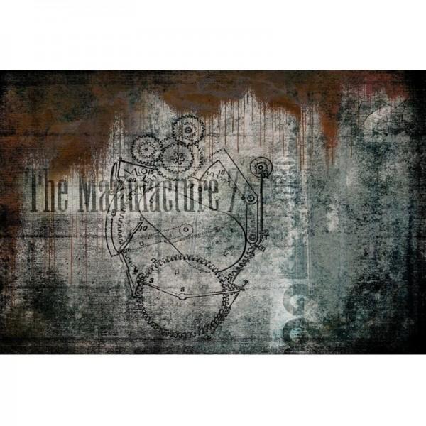 """Decoupage Tissuepapier """"Manufactured Heart"""" 50,8 x 76,2 cm von Roycycled Treasure"""