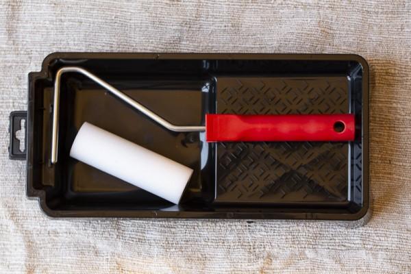 Lackierset Komplett, Roller 10 cm Schaumstoff mit Wanne u. Bügel