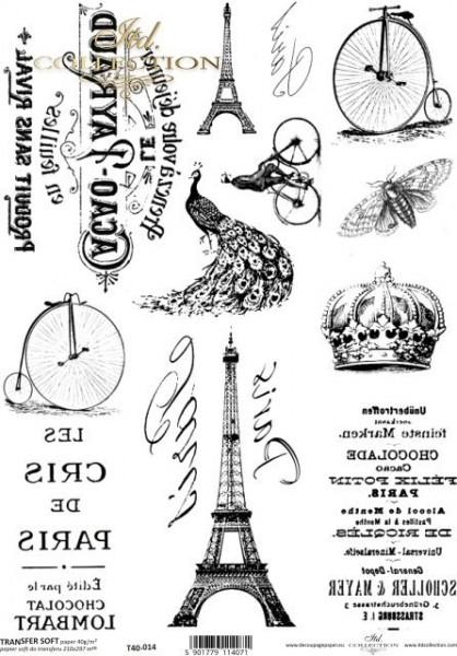 Transferpapier mit Spiegelschrift - Paris 2