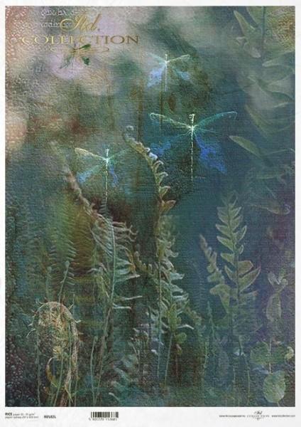 Reispapier für Decoupage - Mystischer Wald - A3