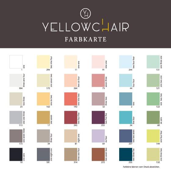 Yellowchair Farbkarte
