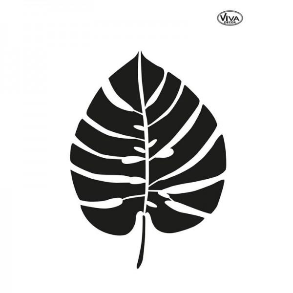 Schablone Monsterablatt, klein, A5 von Viva Decor