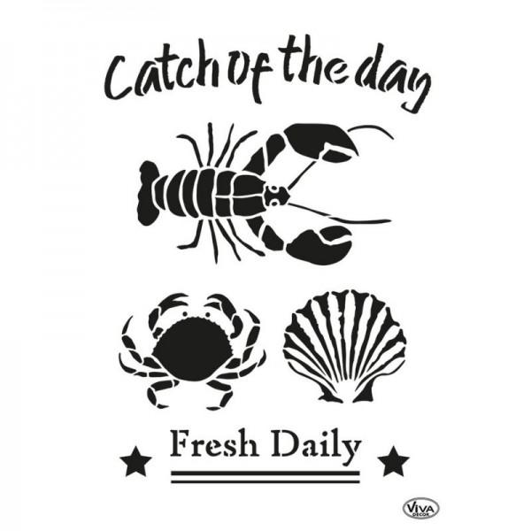 "Schablone ""Catch of the day"" A3 von Viva Decor"