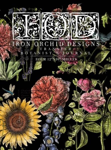 "Decor Transfer ""Botanist's Journal""- Iron Orchid Designs"