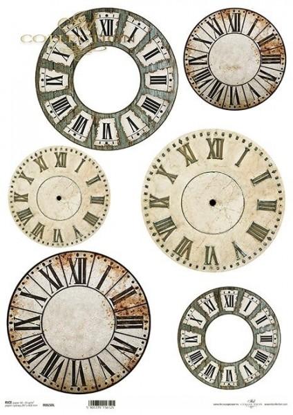 Reispapier für Decoupage - Zifferblätter 1 - A3