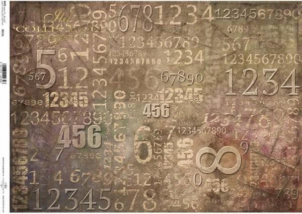 Reispapier für Decoupage - Zahlen - A3